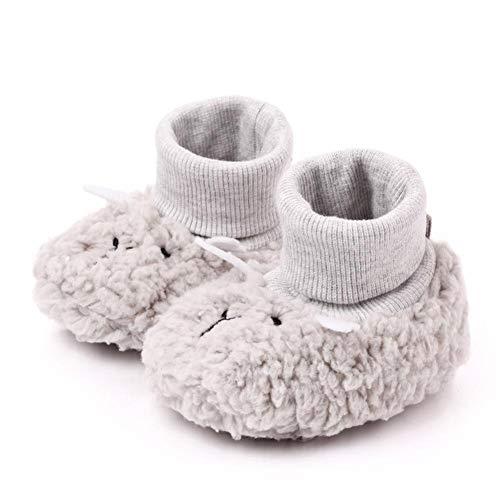 1 Paar Babyschuhe Erstlingsschuhe Winter Warme Baby Jungen Mädchen Verdickte Wollsocken Kinder Gekämmte Baumwolle Wolle Socken Fleece-Futter Mit Weichem Boden Für 0-1 Jahre Altes Kleinkind