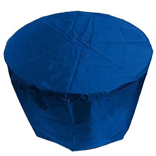 QIAOH Patio Exterior Cubiertas Mueble Impermeable 95x140cm, Resistente UV Redondo Jardín Mesa Funda Transpirable Circular Mesa Y Silla Refugio Funda, Funda para Muebles De Jardín