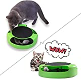 <span class='highlight'><span class='highlight'>Huakaimaoyi</span></span> 2 In1 Cat Toys Interactive With Running Mice And Scratching Pad Durable Safe Kitten Cat Game Exercise No Battery Needed