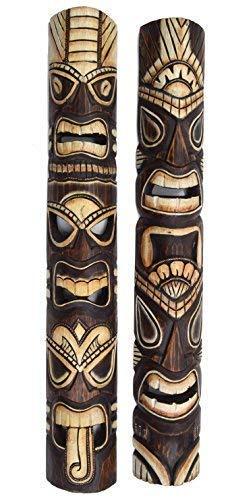 2 Tiki Máscara de pared 100cm IM HAWAI Tótem Buscar MÁSCARAS CON MOTIVOS Máscara de madera Máscara Isla De Pascua