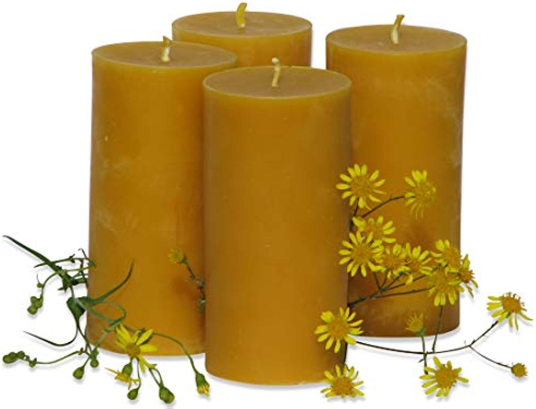 4 groe Kerzen à 360 Gramm aus Bienenwachs, Hhe 12,5 cm, Durchmesser 6,5 cm. BIENENWACHSKERZEN aus reinem Imkerwachs - aus der Schwarzwlder Kerzenmanufaktur