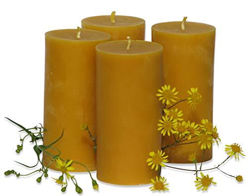 Figura Santa 4 große Kerzen à 360 Gramm aus Bienenwachs, Höhe 12,5 cm, Durchmesser 6,5 cm. BIENENWACHSKERZEN aus reinem Imkerwachs - aus der Schwarzwälder Kerzenmanufaktur
