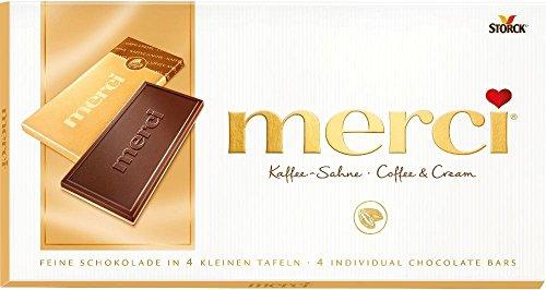 Merci Kaffee-Sahne, 4 Mini-Tafelschokoladen - 100gr - 4x
