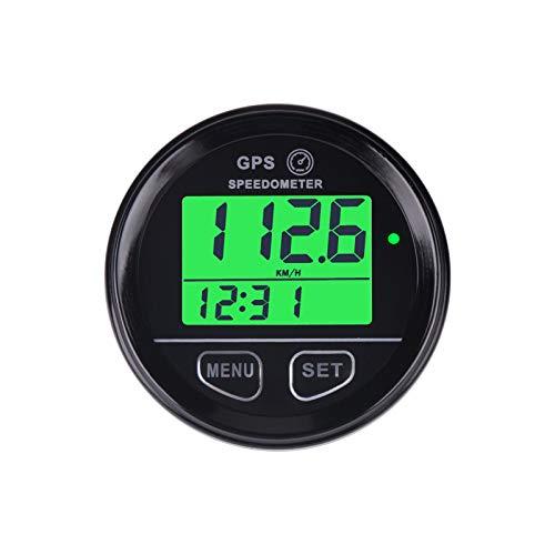 Runleader Digital GPS-Geschwindigkeitsmesser, Echtzeit-Geschwindigkeitsrekord, Übergeschwindigkeitserinnerung, Batteriespannungsmessung, externer Gleichstrombetrieb für Motocycle