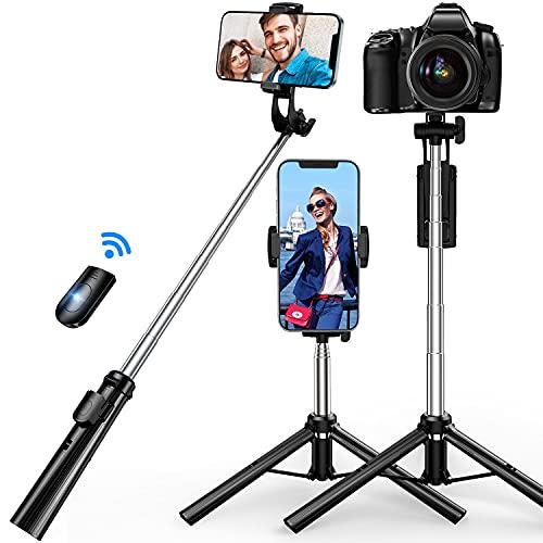 2021進化版 自撮り棒 三脚 SanDony Bluetooth セルカ棒 軽量 リモコン付き スマホ 6段階伸縮 360°回転 無線 折りたたみ コンパクト 持ち運び便利 iPhone7 8 iPhoneX iPhone11 Android&iPhone等スマホ カメラ対応