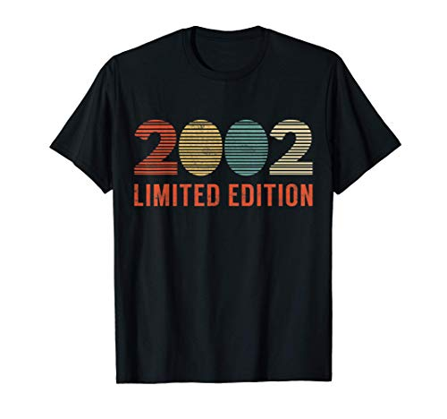 18 Años Cumpleaños Hombre Chica Divertido Regalo 2002 Camiseta
