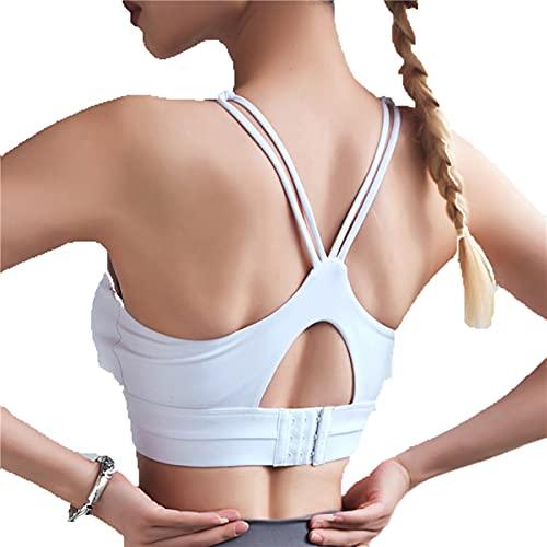 Venlen Yoga Bra Mujeres Cruz Sling Belleza Espalda Deportes Contraste Costura Correr Fitness Secado Rápido Reunir Bra