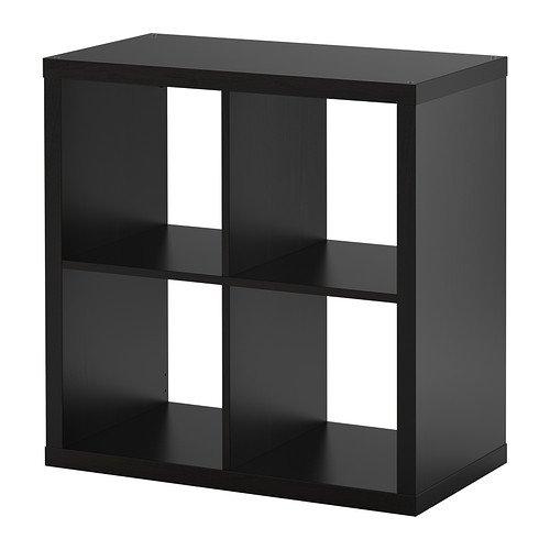 Ikea KALLAX Regal schwarzbraun; (77x77cm); Kompatibel mit EXPEDIT