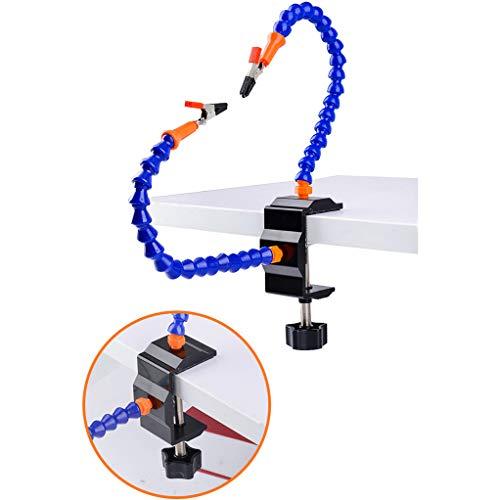SROMEZ Flexibel Helfende Hände Loeten Dritte Hand löthilfe, Lötstation Werkzeug Zwei Flexible ungewöhnliche Arme, 5.5cm Pinch Clip Einstellbarer maximaler Platz Und Rutschfeste Basis,Nofan