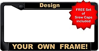 Custom Personalized Black and Gold   1960 Legacy   CAR PLASTIC License Plate Frame