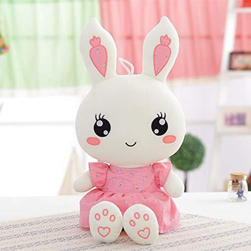YXWJ Lindo pequeño conejo blanco felpa muñeca juguete