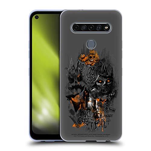 Head Case Designs Licenciado Oficialmente Batman: Arkham Knight Ciudad del Miedo Espantapájaros Gráficos Carcasa de Gel de Silicona Compatible con LG K61