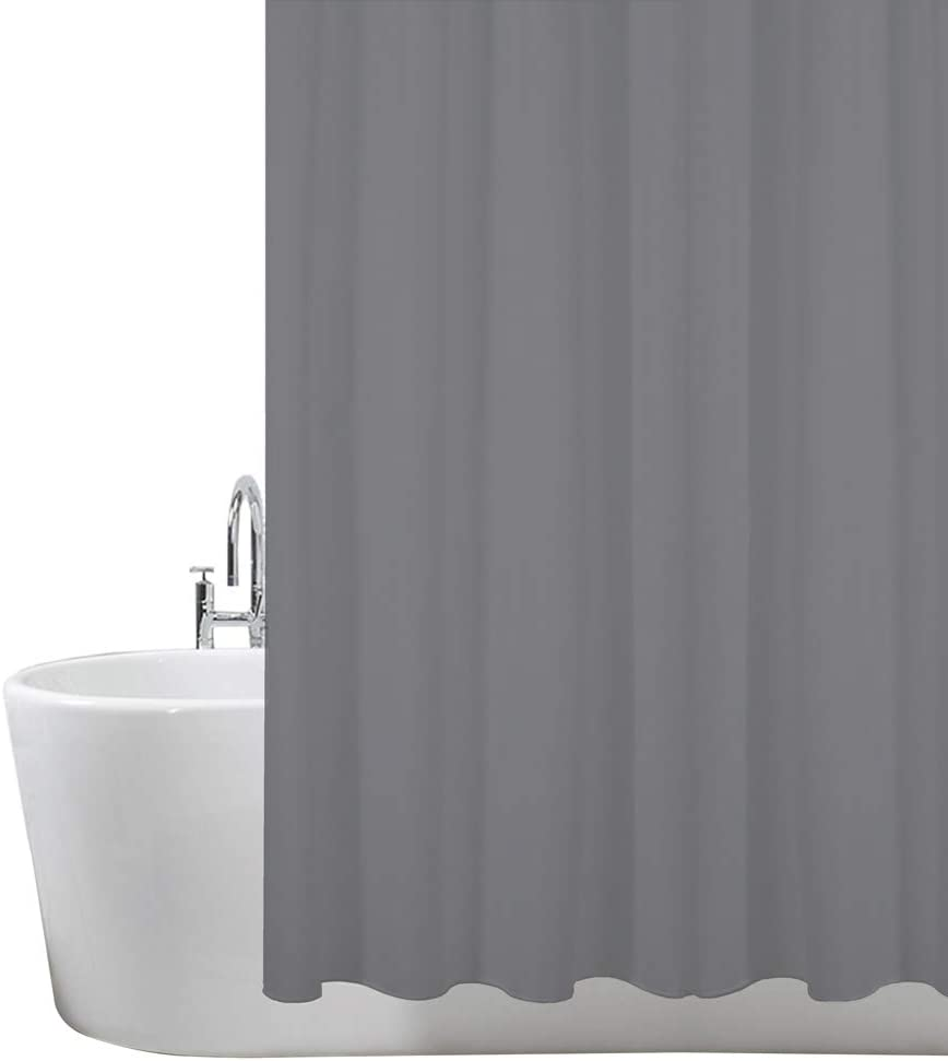 ANSIO Shower Curtain, Mould and Mildew Resistant 180 x 180 cm 100% Polyester - Charcoal Grey Carcoal Grey 180 x 180 cm