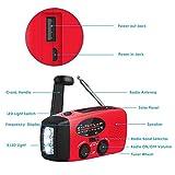 Ysoom Solar Radio, AM/FM Kurbelradio Wiederaufladbare Dynamo Radio Wasserdicht LED Dynamo Lampe Powerbank für Wandern, Camping, Ourdoor, Notfall - 2