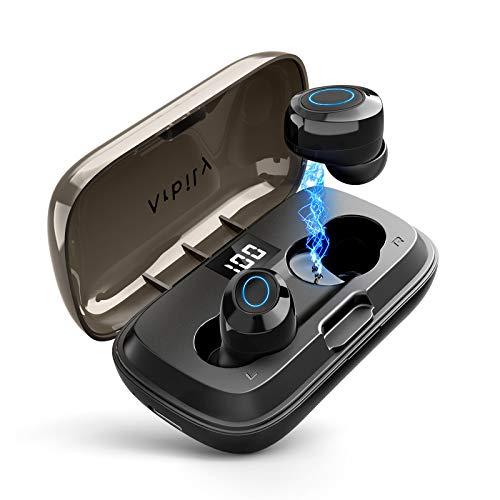 Arbily Bluetooth Kopfhörer In Ear, Kopfhörer Kabellos mit Intensivem Bass, Wireless Kopfhörer mit LED Digitalanzeige, Mini Größe, BT5.0, 24 Std Wiedergabezeit für Alle Telefone