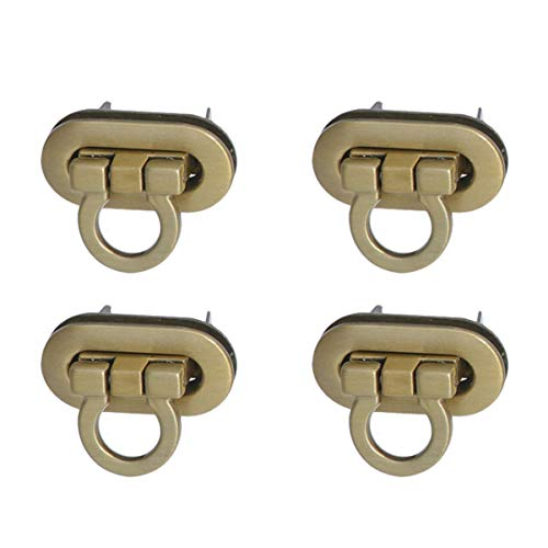 Healifty 4 Piezas Cerraduras Giratorias Herrajes de Metal para Bricolaje Bolso Bandolera Cierre Bolso Monedero Suministros