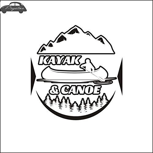 58x60 cm Kajak Aufkleber Wald Outdoor Sports Kayak Tours Aufkleber Poster Vinyl Wandtattoos Dekor Wandbild Skifahren Aufkleber