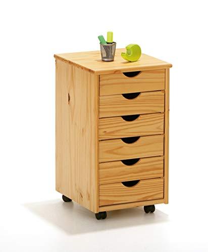 PKline dressoir Nilar Rolcontainer ladekast sideboard kantoorkast natuur