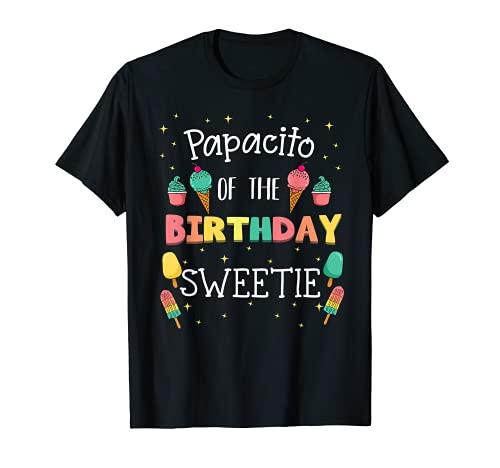 Papacito Del Cumpleaños Sweetie Helado Bday Party Daddy Camiseta