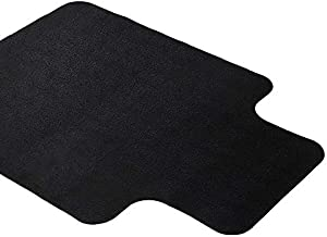 Office Chair Mat for Hardwood and Tile Floor with Lip, Black, Anti-Slip, Non-Curve, Under the Desk Mat Best for Rolling Chair and Computer Desk, 47x35 Non-Toxic and no BPA Plastic Protector