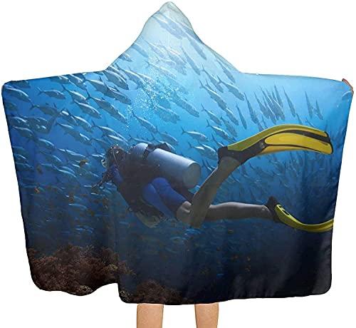 Toalla de playa suave con capucha para buceo, para playa, piscina, ideal para baño, playa