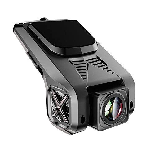 M.I.C. DVR ADAS : Dashcam Innenraum vorne Kamera Auto Videorecorder 1080P nachtsichtkamera versteckte Aufkleber Webcam autokamera minikamera Gadget mit radarwarner 32G TF Karte für Android Autoradio