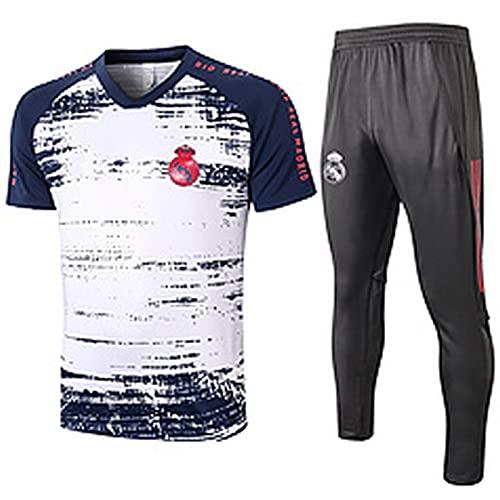 QZZQ Juego de Entrenamiento de fútbol para Hombres 2021 Reǎl MǎDRID Jersey de fútbol, Sudadera para Hombre Deporte Top Sportswear Sports Fan Ropa Performance Trabajar s M