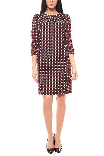 RICK CARDONA Kleid knielanges Druckkleid 3/4 Arm Cocktailkleid by heine Rot, Größenauswahl:34
