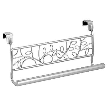 InterDesign Twigz Over-the-Cabinet Kitchen Dish Towel Bar Holder - 9 , Silver