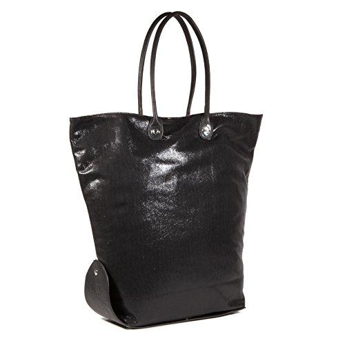 Caco Design One Bag 15-16 Glitter, Borsa a Spalla Donna, Nero, 43x60x10 cm (W x H x L)