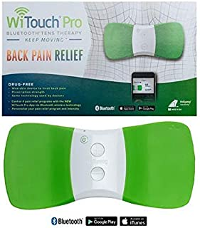 WiTouch Pro Wireless Bluetooth TENS unit for Back Pain - Includes 3 pairs of reusable gel pads