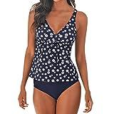 Bikini da Bagno Intero con Stampa a Quadri Scozzesi da Donna Bikini da Spiaggia Costume da Bagno per Costume da Bagno Intero Pantaloni da Nuoto Vento Hawaiano SANFASHION