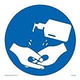 Vichingo Signs - Cartello disinfettante per mani, in vinile, adesivo