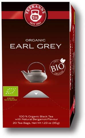 TEEKANNE zwarte thee Bio Earl Grey, aromaverzegeld, 20 x 1,75 g (20 stuks), je ontvangt 1 verpakking à 20 stuks