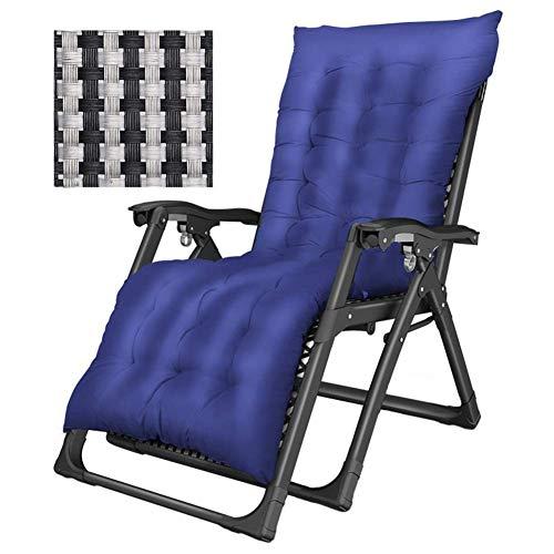 WJXBoos Tumbonas de Gran tamaño con Cojines Salón de Gravedad Cero para Personas Pesadas en el jardín y al Aire Libre El Tejido Textilene admite 200 kg de Azul