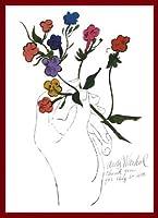 ポスター アンディ ウォーホル A Gold Book 1957 額装品 ウッドベーシックフレーム(レッド)