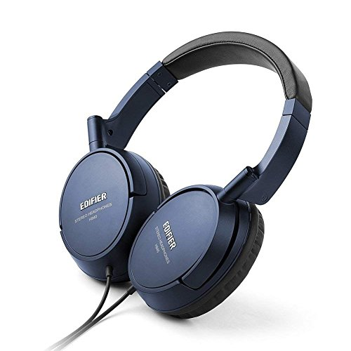 Edifier H840 Over-Ear Headphones, Stereo Lightweight Adjustable Wired Headset, Noise Isolating Comfortable Leather Earphones, Hi-Fi Deep Bass for...