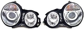 Mercedes Benz E Class E 300 320 420 430 96 - 99 Projector Chrome Head Light Pair