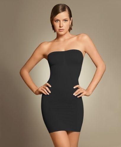 Women's SLIM N LIFT Body Shaper Shapewear Slip Underwear Slim Dress Magic Skirt (XXL, Black)