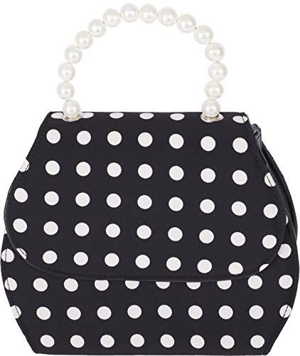 Küstenluder Damen Tasche Gwenny Polka Dot Perlen Handbag Rot