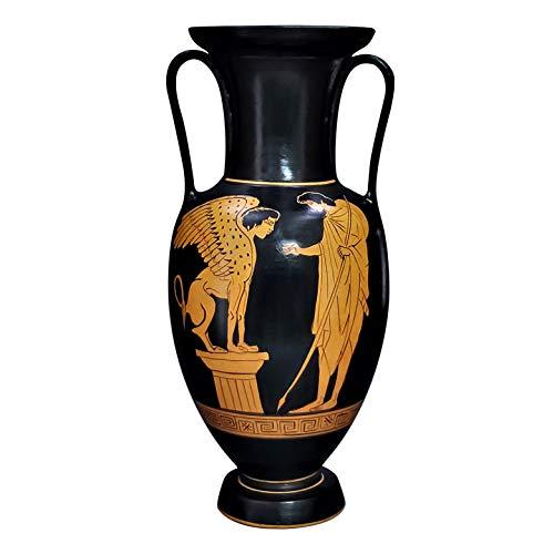 Vaso Anfora Edipo e Sfinge Antica Ceramica Greca Ceramica Museo Copia