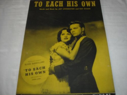 TO EACH HIS OWN OLIVIA DEHAVILLAND 1946 SHEET MUSIC SHEET MUSIC 270