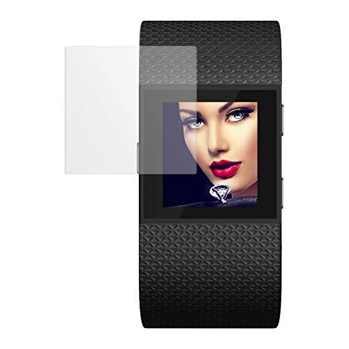 mtb more energy Proteggi Schermo in Vetro temperato per Fitbit Surge - 2.5D - Ultra Resistente - Pellicola Protettiva Salvaschermo Vetrino