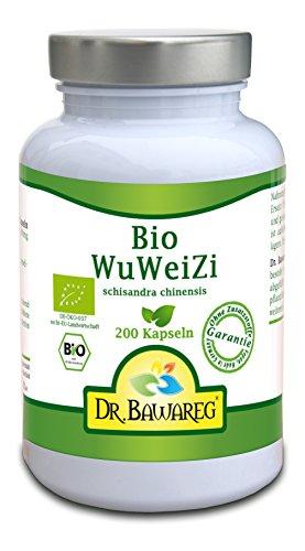 BIO-Schisandra 200 Vegi-Kapseln (3-Monats-Packung) - Schisandra/WuWeiZi Fruchtpulver - Dr. Bawareg