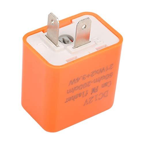 5 unids/set 12V 2 Pin motocicleta intermitente LED ajustable relé intermitente retardante de llama indicador de señal de giro de plástico