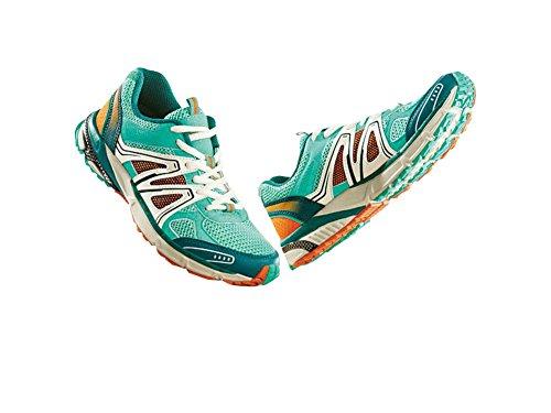 Damen Walkingschuhe Laufschuhe Größe: 37 Farbe: Türkis-Orange-Weiß Luftzirkulation durch Air-Dynamic-Flow-System (ADF)