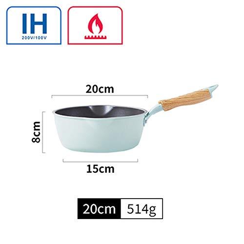 XNLZKD Koekenpan Niet-Stick Koken Steak Eieren Wok Steen Kookpot Algemeen Gebruik voor Gas en Inductie Koker, 20cm