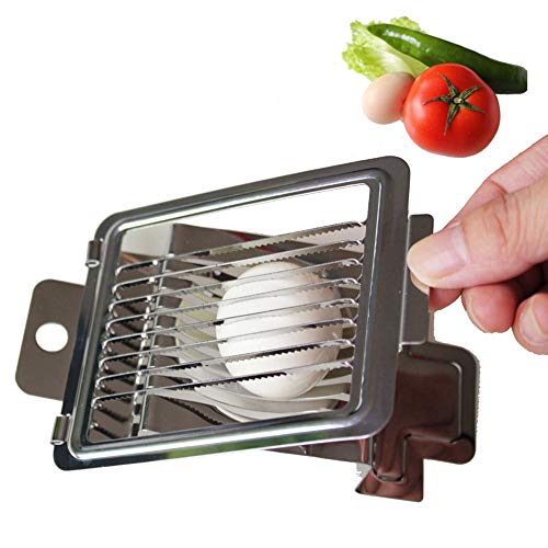 XIE 2 Stück Eierschneider TEENRA 1 Stück Edelstahl-Eierschneider Erdbeerschneider Metallschneider multifunktionaler Eierschneider Tomatenschneider Küche
