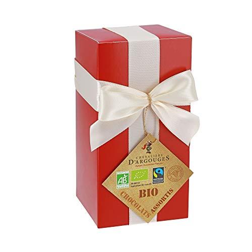 Chevaliers d'Argouges Assortiment de chocolats Bio/Équitable - Ballotin cadeau - 175g