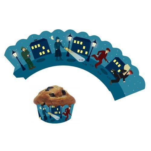 12 Cupcake Banderolen * DETEKTIV * für Muffins und Cupcakes // 10137 // Party Kindergeburtstag Geburtstag Verzierung Kinder Motto Mottoparty